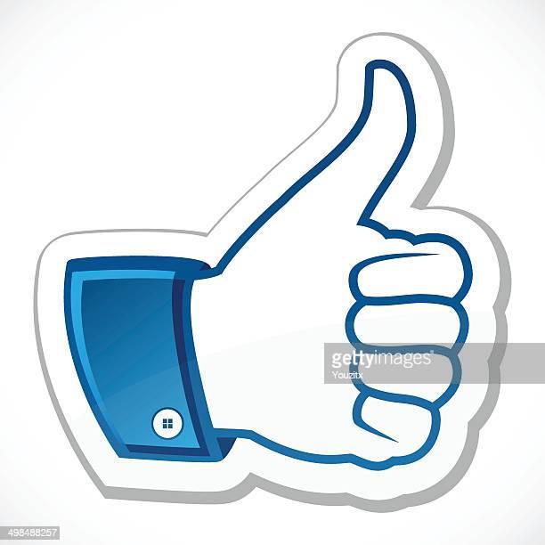 i like, thumb up - thumb stock illustrations