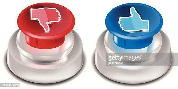 プッシュボタン/親指アップおよびダウン
