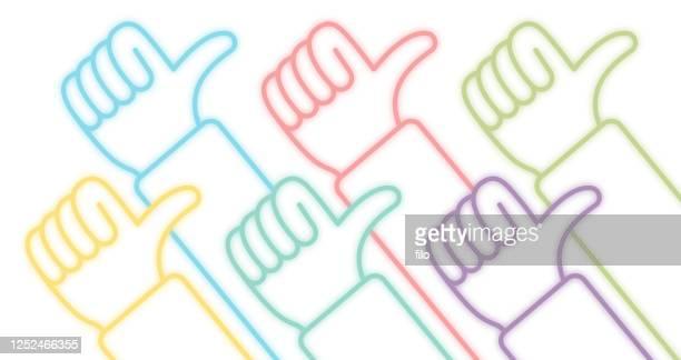 stockillustraties, clipart, cartoons en iconen met zoals thumbs up people - feedback