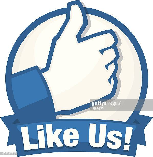 like us - like button stock illustrations