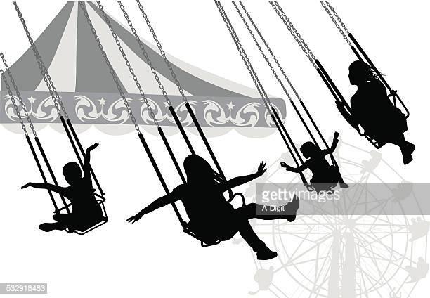likeabird - carnival ride stock illustrations, clip art, cartoons, & icons
