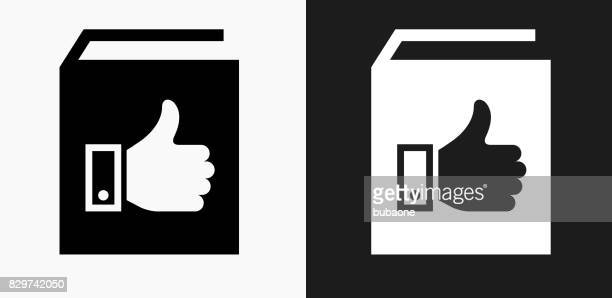 Mochte Buchsymbol auf schwarz-weiß-Vektor-Hintergründe