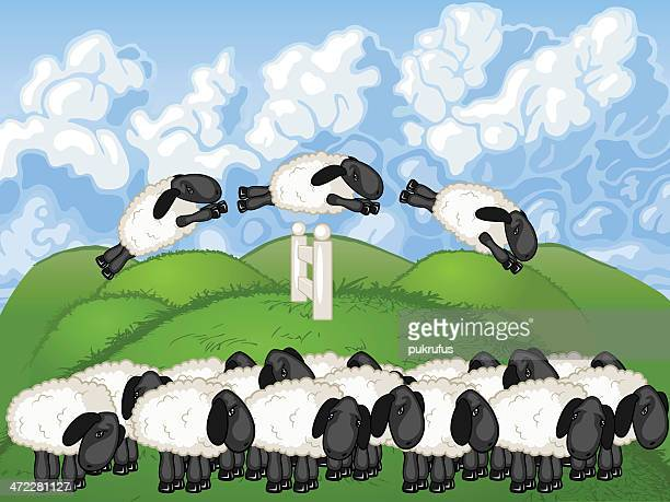 lil' lambs - sheep stock illustrations, clip art, cartoons, & icons