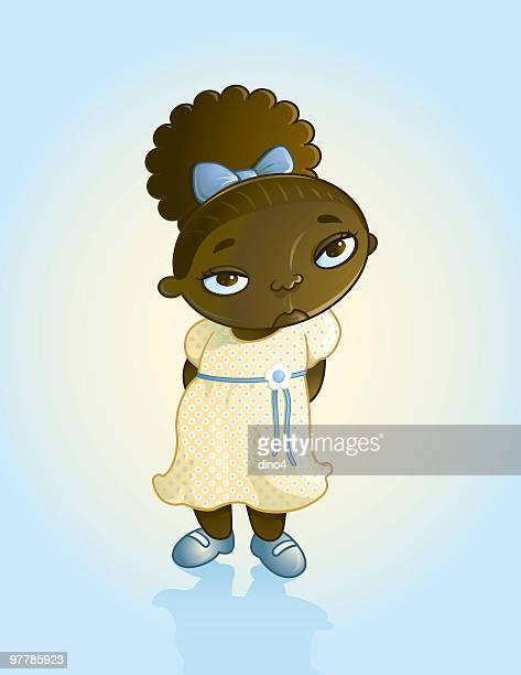 lil' lenore - sunday best stock illustrations, clip art, cartoons, & icons