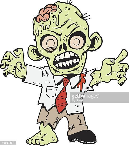lil zombie - zombie stock illustrations, clip art, cartoons, & icons