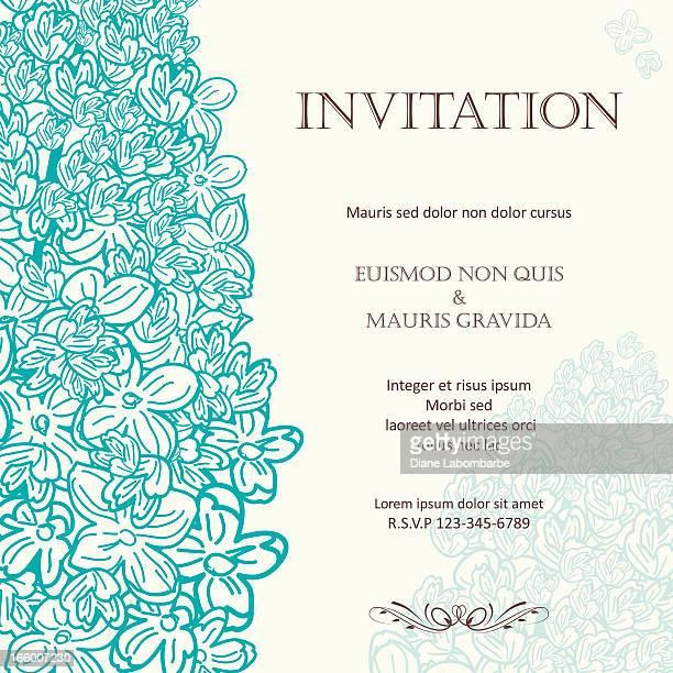Lilac Floral Wedding Invitation Background