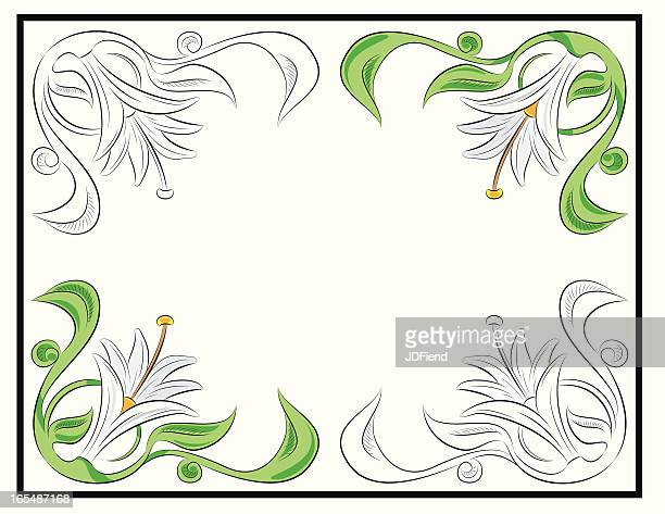 lily flash sheet - easter lily stock illustrations