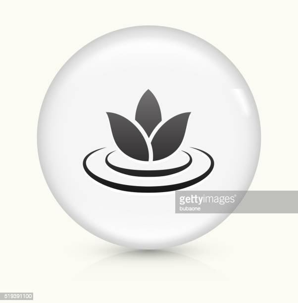 Lily Flower icon on white round vector button