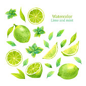 Lime and mint