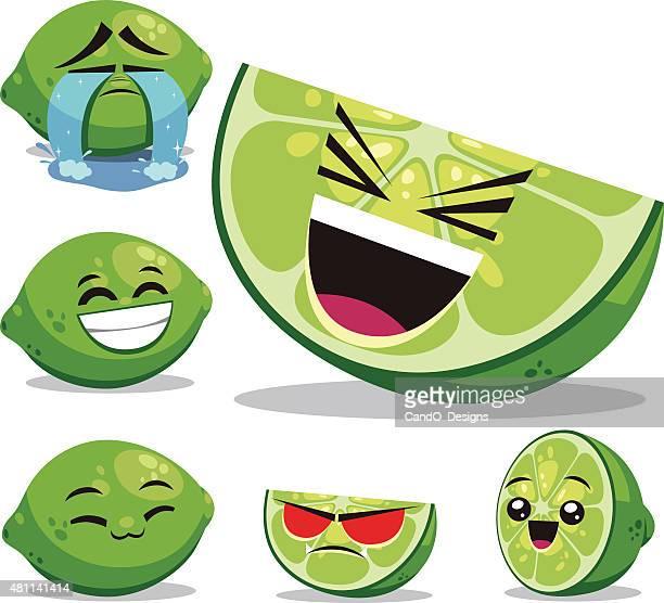 ilustrações, clipart, desenhos animados e ícones de desenho de conjunto b limão - entusiástico