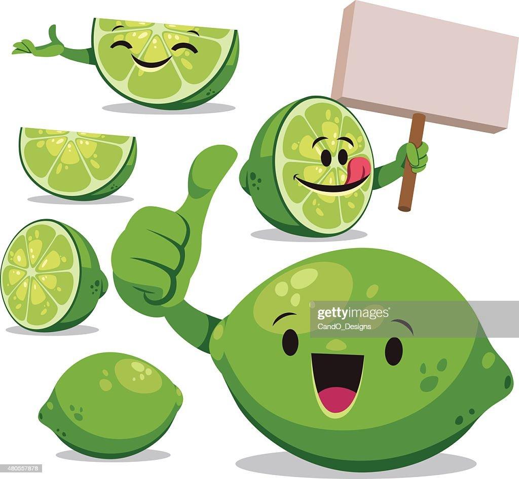 Lime Cartoon Set C : Vector Art