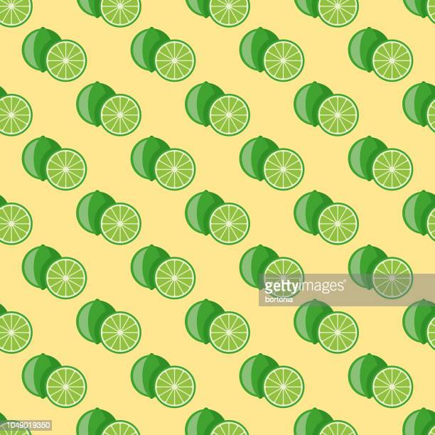 Lime Fruit Seamless Pattern