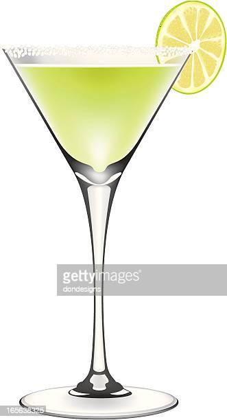 lime margarita cocktail - margarita stock illustrations, clip art, cartoons, & icons