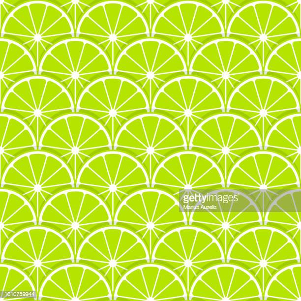 lime slice seamless pattern - juicy stock illustrations, clip art, cartoons, & icons