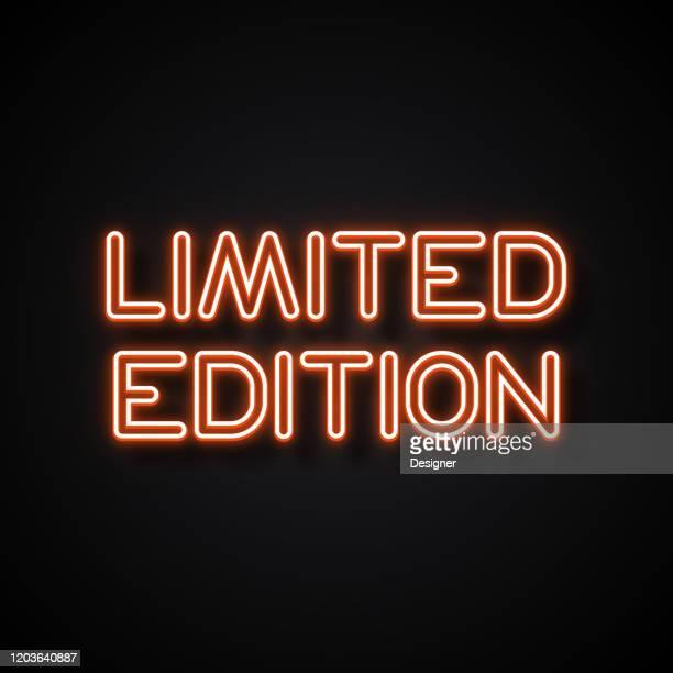 限定版バッジネオンスタイル、デザイン要素 - 限定版点のイラスト素材/クリップアート素材/マンガ素材/アイコン素材