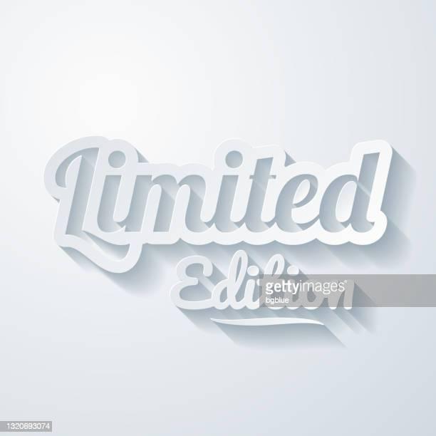 限定版。空白の背景にペーパーカット効果を持つアイコン - 限定版点のイラスト素材/クリップアート素材/マンガ素材/アイコン素材