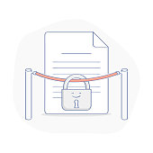 Limited or Premium, VIP Access to Data, Documents - Vector Illustration