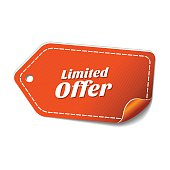 Limited Time Offer Orange Vector Icon Design