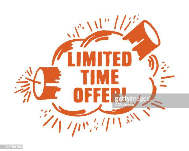 ilustraciones, imágenes clip art, dibujos animados e iconos de stock de ¡oferta de tiempo limitado! - bomba