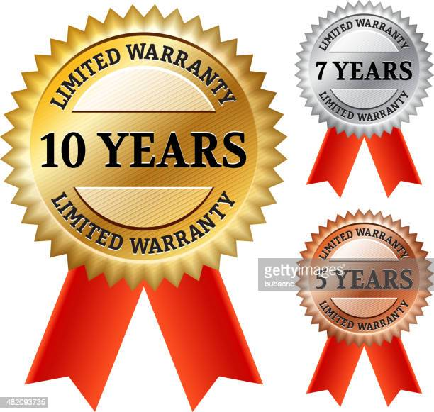ilustrações, clipart, desenhos animados e ícones de garantia limitada collection eps10 - 6 7 anos