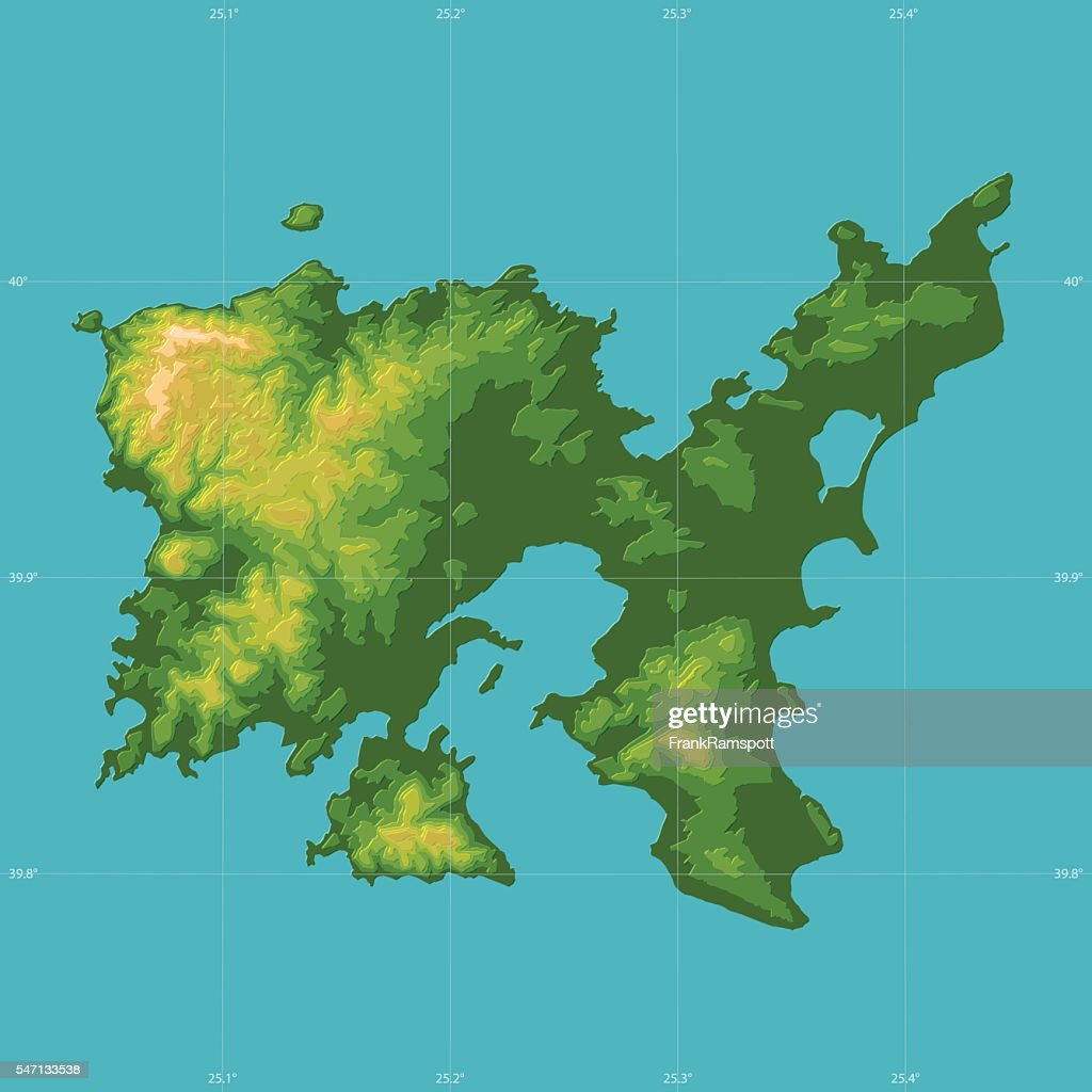 Limnos topographic relief vector map vector art getty images limnos topographic relief vector map vector art gumiabroncs Choice Image