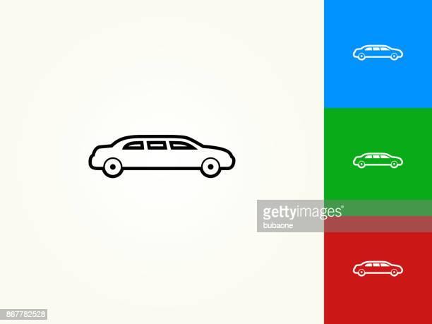 limo black stroke linear icon - limousine stock illustrations