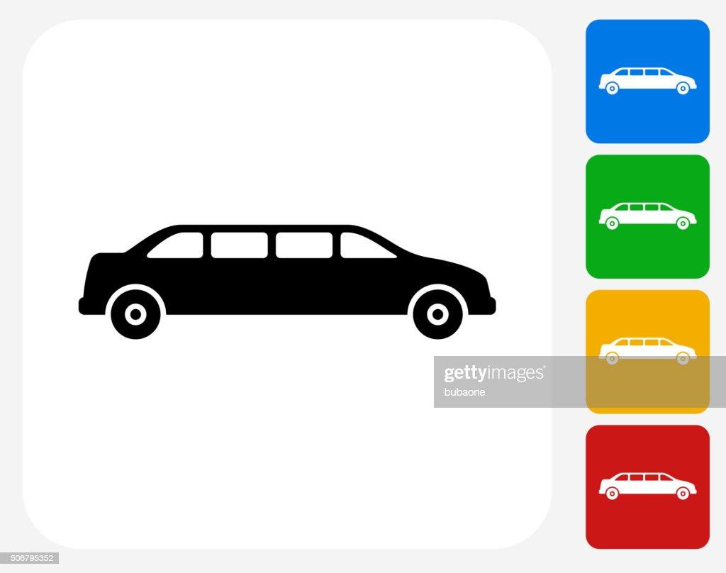 Limo Icon Flat Graphic Design : stock illustration