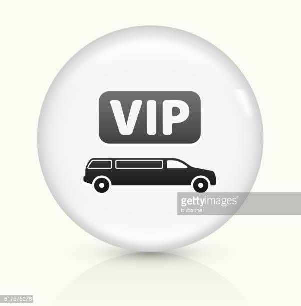 VIP Limo icon on white round vector button