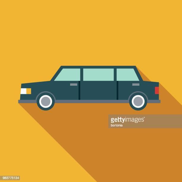 Limousine Flat Design Transportation Icon