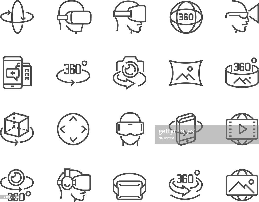 Line 360 Degree Icons