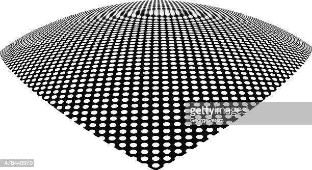 ラインアート、checkerboard 模様。 ワープ視点からご覧いただけます。 白背景 - モアレ縞点のイラスト素材/クリップアート素材/マンガ素材/アイコン素材