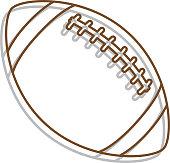 Line Art Football Icon