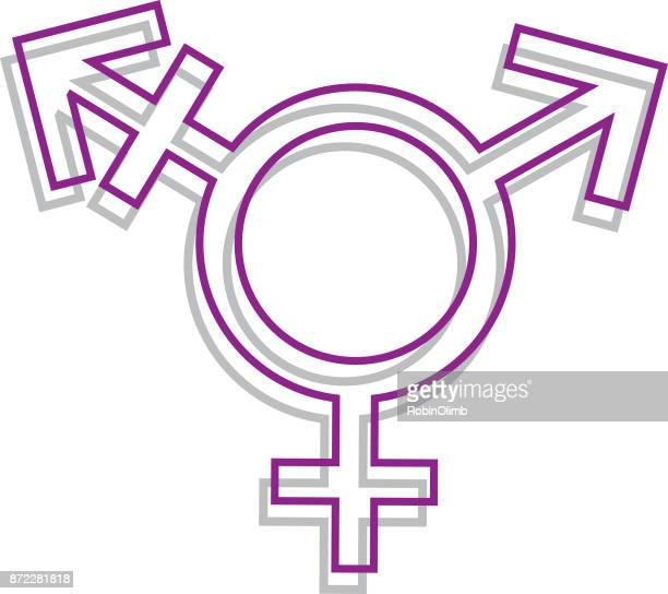 Line Art Transgender Icon