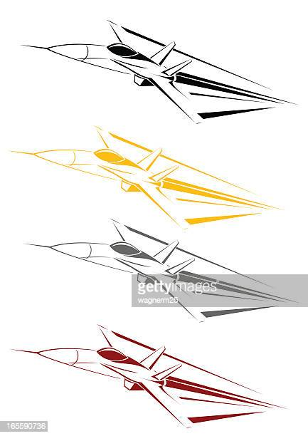 f18 line art - fa 18 hornet stock illustrations