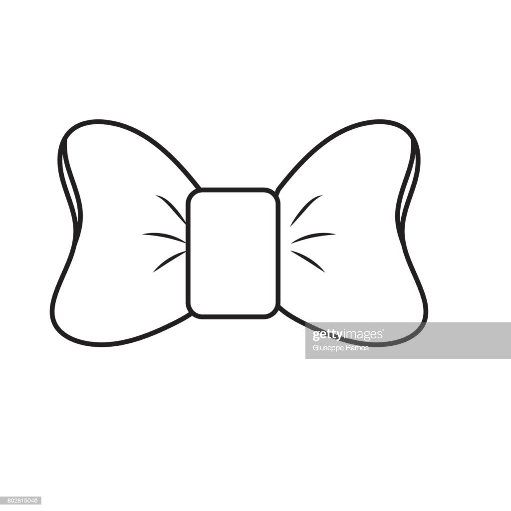 line bow ribbon and fashion design icon