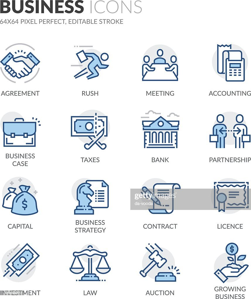 Line Business Icons