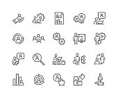 Line Business Management Icons