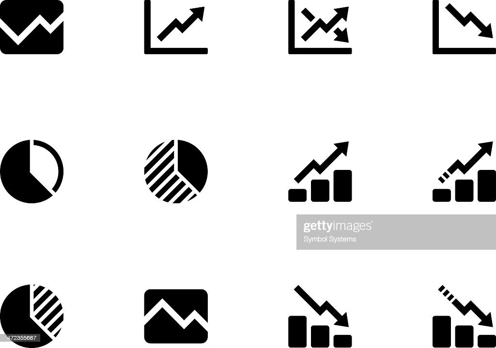 Line chart and Diagram icons