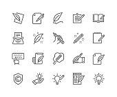Line Copywriting Icons