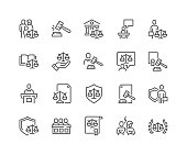 Line Court Icons