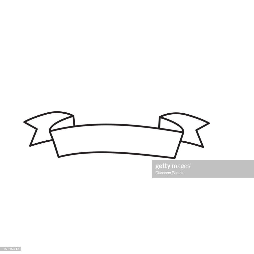 line cute ribbon to decoration design