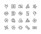 Line Data Processing Icons