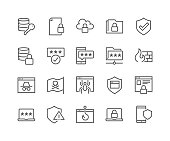 Line Data Security Icons