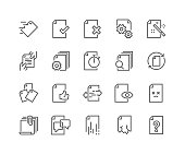Line Document Flow Management Icons