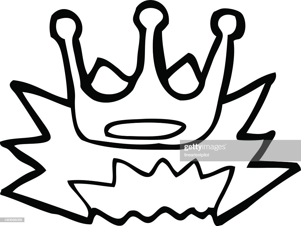Line Drawing Cartoon Crown Symbol Vector Art Getty Images