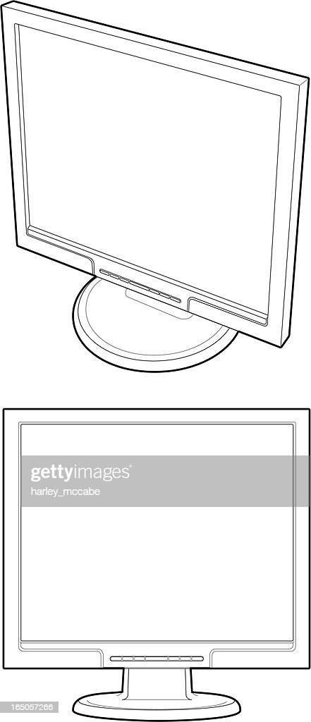 Line Drawing of Monitor