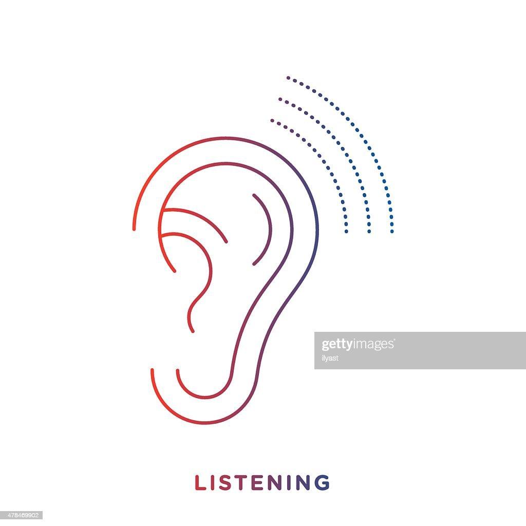 Line Ear Symbol