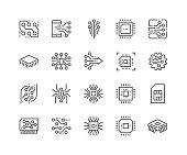 Line Electronics Icons