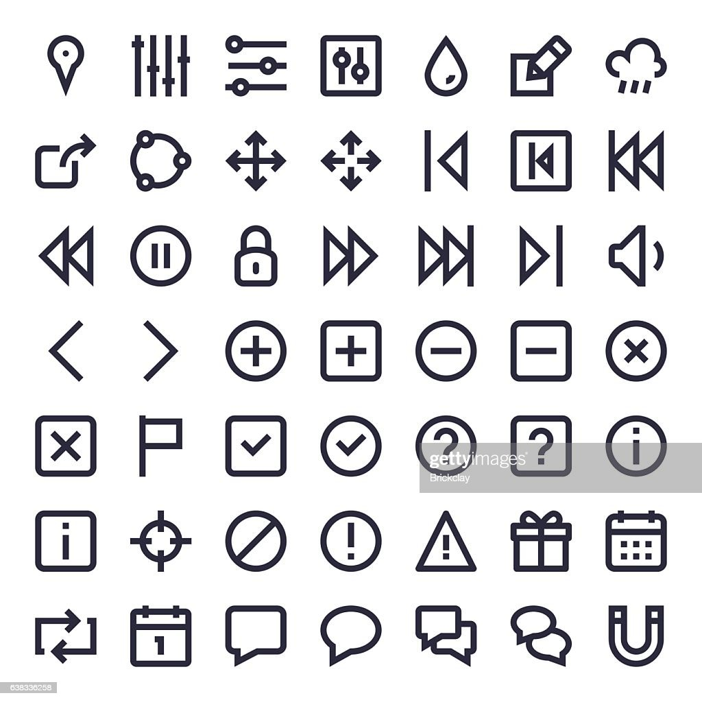 Line Essential Icons 52