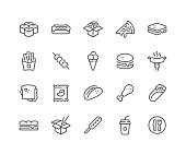Line Fast Food Icons